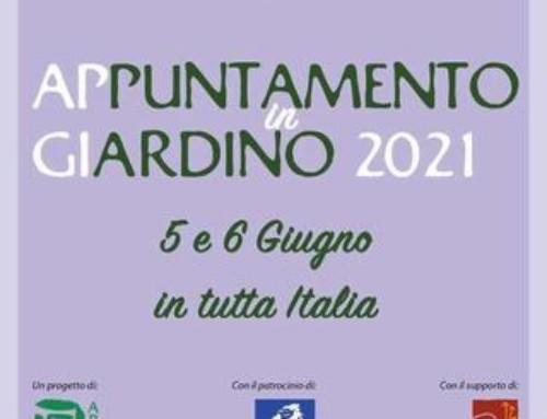 """Il 5 e 6 giugno """"Appuntamento in giardino"""" in tutta Italia"""